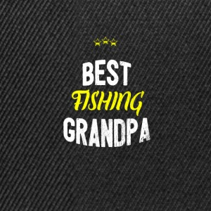 Distressed - BEST FISHING GRANDPA - Snapback Cap
