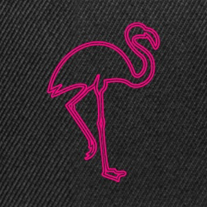 80s Retro Neon Sign Pink Flamingo - Snapback Cap