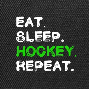 eat sleep hockey repeat Hockey Fan Shirt - Snapback Cap