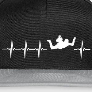 I love skydiving (skydive heartbeat) - Snapback Cap