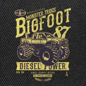 MONSTER TRUCK BIG FOOT - Vintage Truck Shirt Motif - Snapback Cap