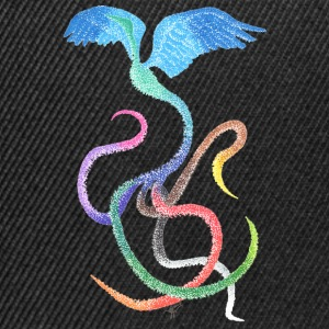 Graceful - Rainbow Bird in Ink - Snapback Cap