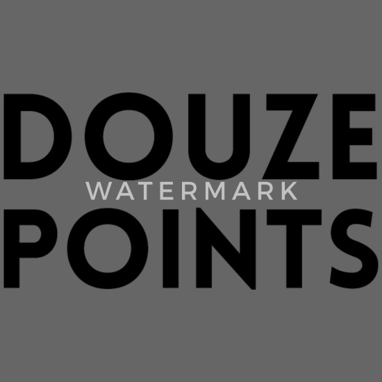 Douze poeng Eurovision Song Contest Stoffveske | Spreadshirt