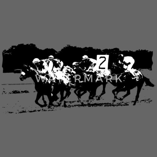 Las carreras de caballos - Gorra snapback. delante. Diseño 10fab55656c