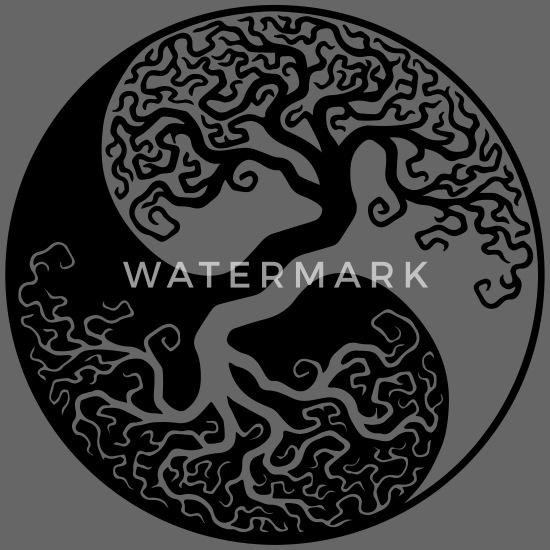 Drzewo życia Yin Yang Czapka Z Daszkiem Typu Snapback