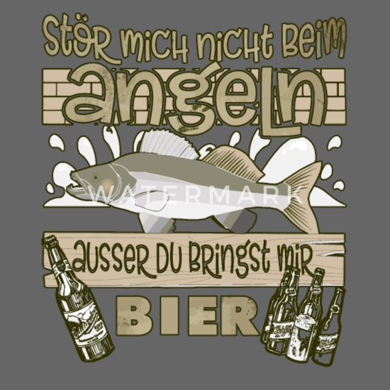 Lustige Sprüche Angeln Angler Bier Snapback Cap Spreadshirt