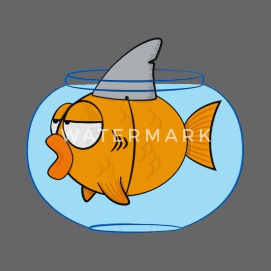 Pesce divertente cartone animato con pinna di squalo cappello