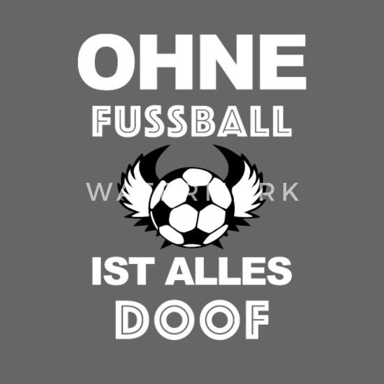 Ohne Fussball Ist Alles Doof Snapback Cap Spreadshirt