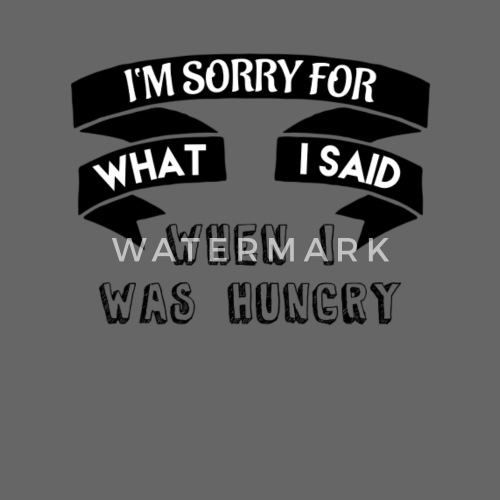 Lustige Spruche Hunger Geschenkidee Sorry Hungrig Snapback Cap