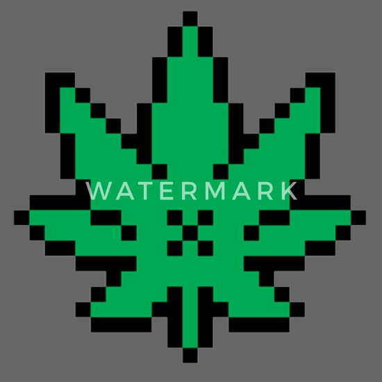 Cannabis Marijuana Grass Pixelart Snapback Cap Spreadshirt