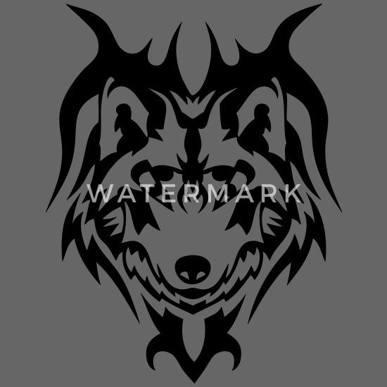 Wilk Tatuaż Plemienne Dzikie Zwierzę Czapka Z Daszkiem Typu