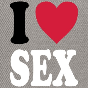 I love SEX (colors can be customized!) - Snapback Cap