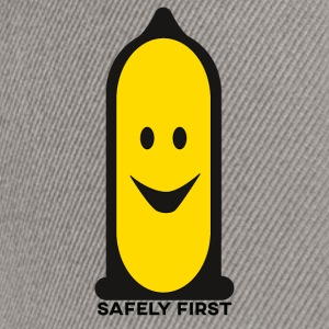 Veilig First - Smiley - Smilie - Better safe than sorry - Snapback cap