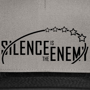 silence.is.the.enemy (noir) - Casquette snapback