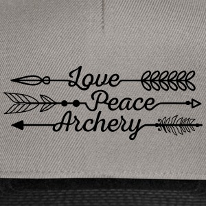 Love, Peace and Archery (Ladies) - Snapback Cap