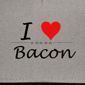 I Love Bacon - Snapback Cap