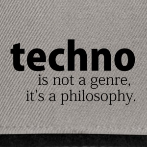 techno is not a genre - Snapback Cap