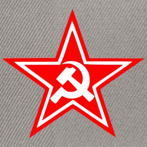 Communist red star flag - Snapback Cap