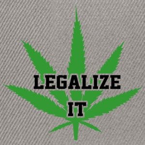 Legalize Marijuana Medical Cannabis Weed - Snapback cap