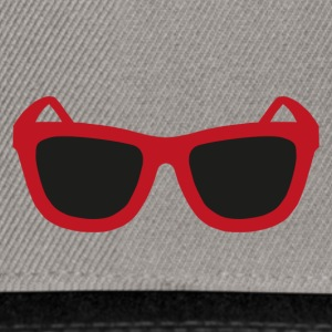 rote Sonnenbrille - Snapback Cap