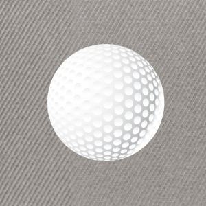 golf-ball round symbol single white knob - Snapback Cap