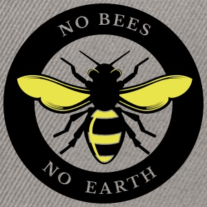 No Bees, No Earth - Snapback Cap