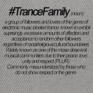 Definition of Trance Family - Snapback Cap