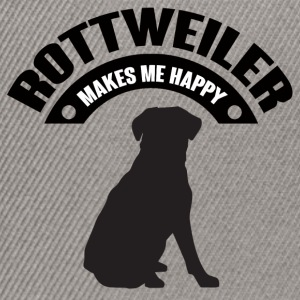 Dog / Rottweiler: Rottweiler Makes Me Happy - Snapback Cap