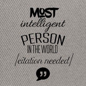 De fleste intelligent person i verden - Snapback Cap