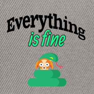 Everything is fine - Snapback Cap