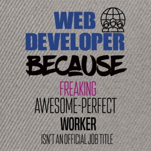 Web developer - Snapback Cap