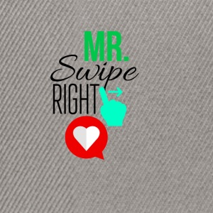 Mr Swipe right - Snapback Cap