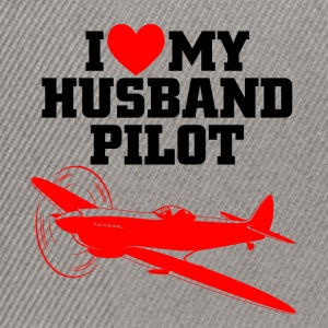 I love my husband pilot - Snapback Cap