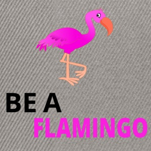 Be A Flamingo Black - Snapback Cap