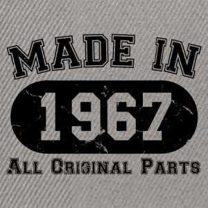 Made in 1967 Alle Originalteile 50. Geburtstag - Snapback Cap
