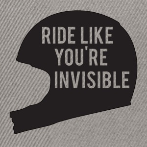 Biker / Motorcycle Ride like you're invisible - Snapback Cap