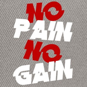 no pain - Snapback Cap