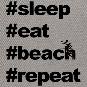 sleep eat beach repeat x x - Snapback Cap