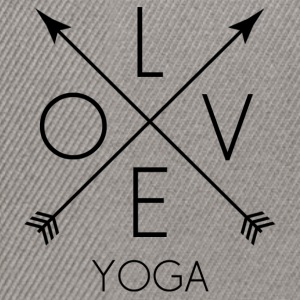 LOVE Yoga black - Snapback Cap