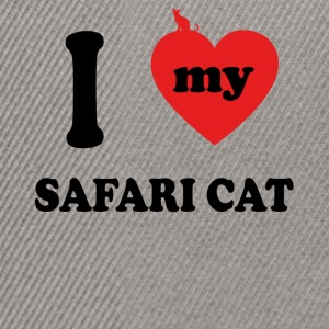 I love fat cats SAFARI CAT - Snapback Cap