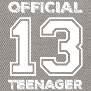 Official teenager 13th birthday gift - Snapback Cap