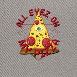 ALL EYEZ ON MY PIZZA Illuminati Italy Fun T-Shirt - Snapback Cap
