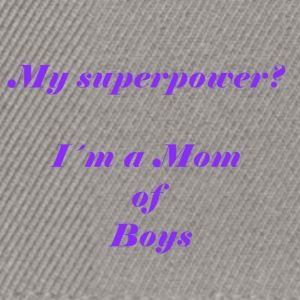 Superpower mom - lila - Snapback Cap