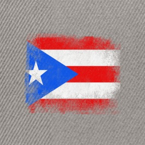 Puerto Rico State Flag Distressed Vintage Shirt - Snapback Cap