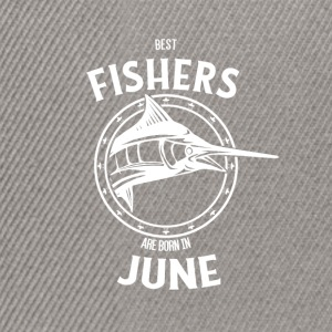 Present for fishers born in June - Snapback Cap