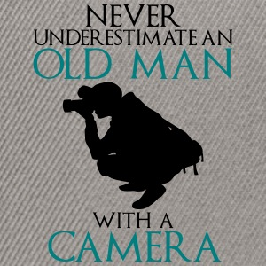 Never Underestimate Old man with camera - funny - Snapback Cap