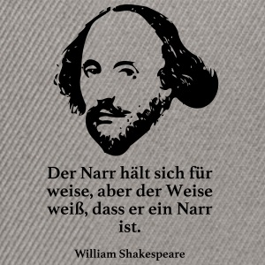 Shakespeare: The fool tror han er klok, men d - Snapback-caps