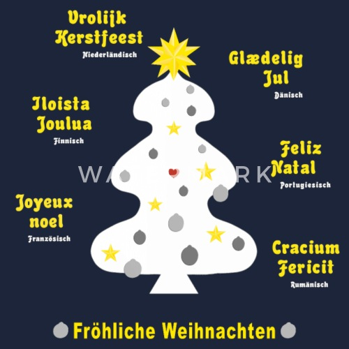 Weihnachtsgrüße In Französisch.Weihnachtsgrüße In 7 Sprachen Mit Weißem Baum Snapback Cap Spreadshirt