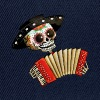 The Day of The Dead Skeleton El Mariachi Buttons - Snapback Cap