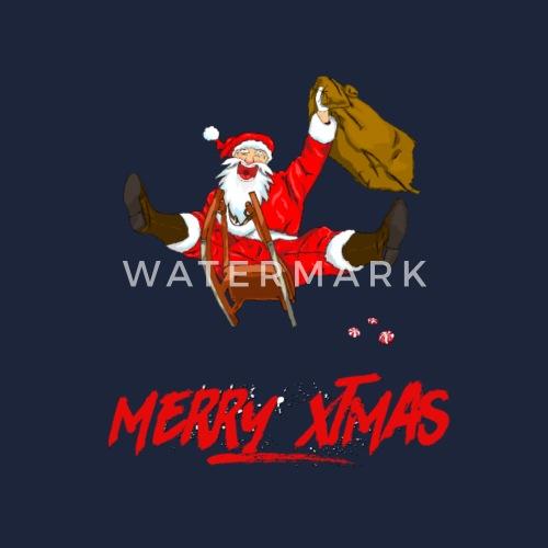 Weihnachtsmann auf Schlitten mit Christmas Wunsch von NAV Werner ...